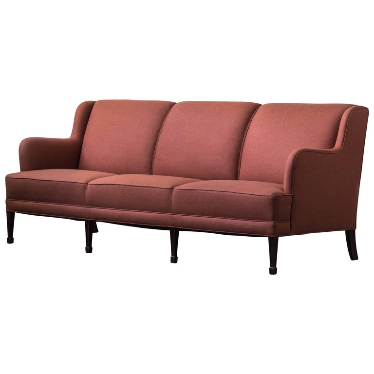 Three-Seat Sofa by Frits Henningsen For Sale