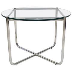 Knoll Studio Ludwig Mies van der Rohe Glass & Chrome Mr Coffee or Cocktail Table
