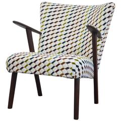 Vintage Re-Upholstered Club Chair, Denmark, 1960s