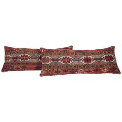 Antique Sumak Pillows Made Out of Late 19th Century Shasavan Mafrash Panels