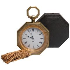Octogonal Carriage Clock with Original Case, Swiss, circa 1820