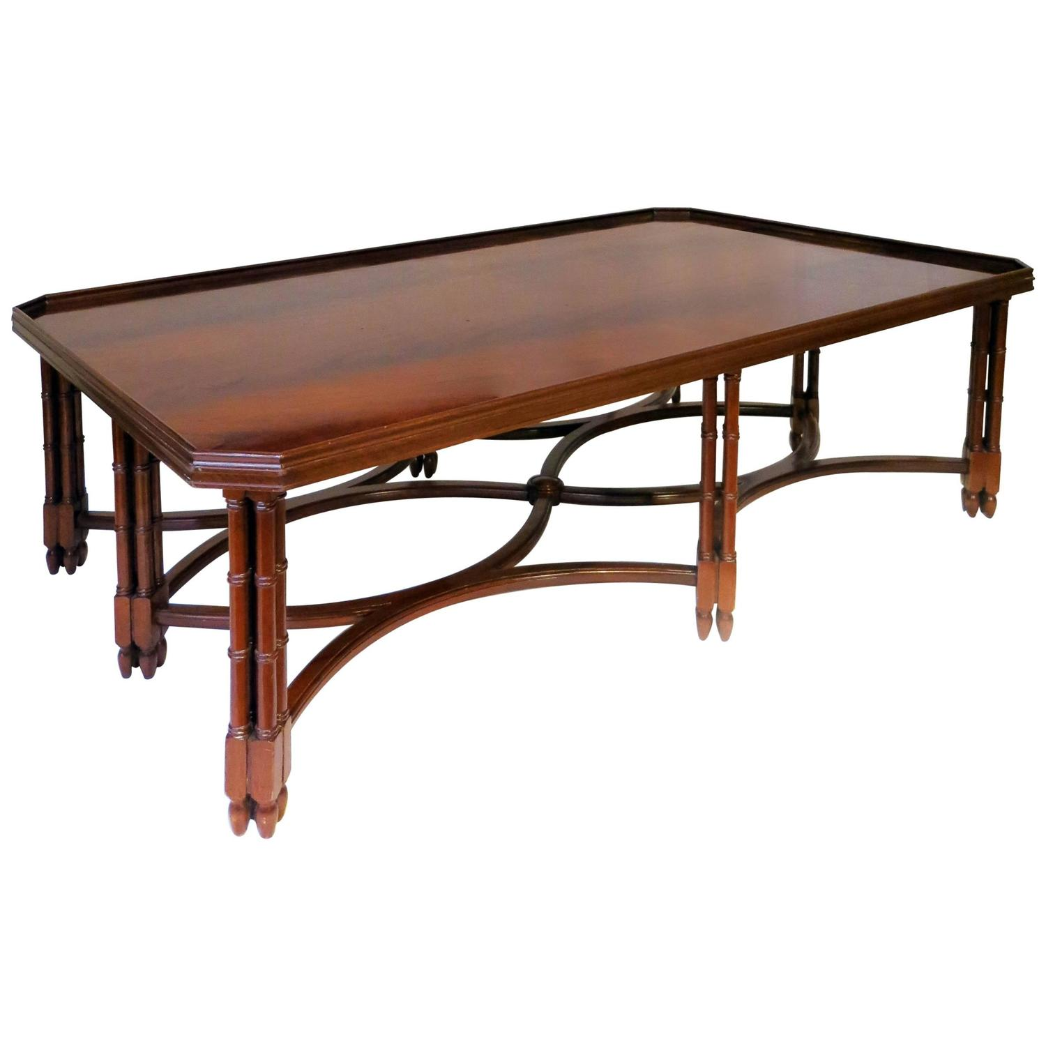 Mahogany Coffee Table by Madeleine Castaing at 1stdibs