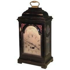 18th Century Ebonised Bracket Clock