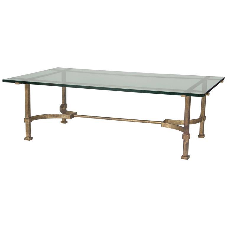 Artimeta Attributed Square Metal And Glass Coffee Table At: Gilt Bronze And Glass Coffee Table At 1stdibs