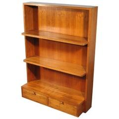 Solid Cherrywood Bookcase, Italy, circa 1950-1960