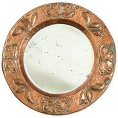 Diminutive Round Copper Mirror