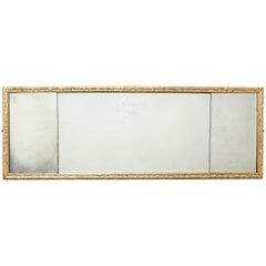 George I Gesso Carved Overmantel Mirror