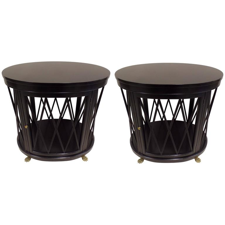 Pair of Large French Modern Neoclassical Side Tables /Consoles by Maison Jansen For Sale