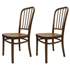 Pair of Chairs by Josef Frank for Thonet, Model A 63