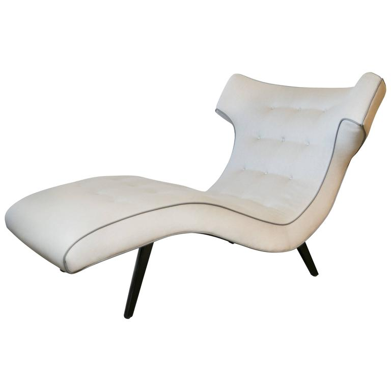 Handsome 1950s oxen shaped chaise lounge at 1stdibs for 1950s chaise lounge