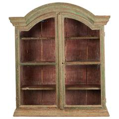18th Century Wall Cabinet from the Rococo Period with Showcase Doors