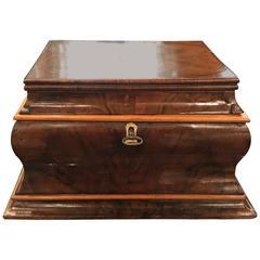 Antique English Walnut Jewelry Box