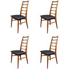 Niels Koefoed for Koefoed Hornslet, Set of Four Danish Teak 'Lis' Dining Chairs