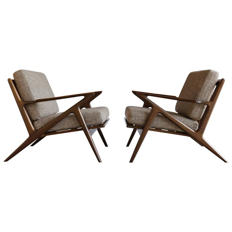 Pair of z chairs by poul jensen for selig for sale at 1stdibs - Selig z chair for sale ...