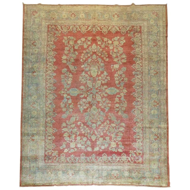 Shabby Chic Persian Sarouk Carpet