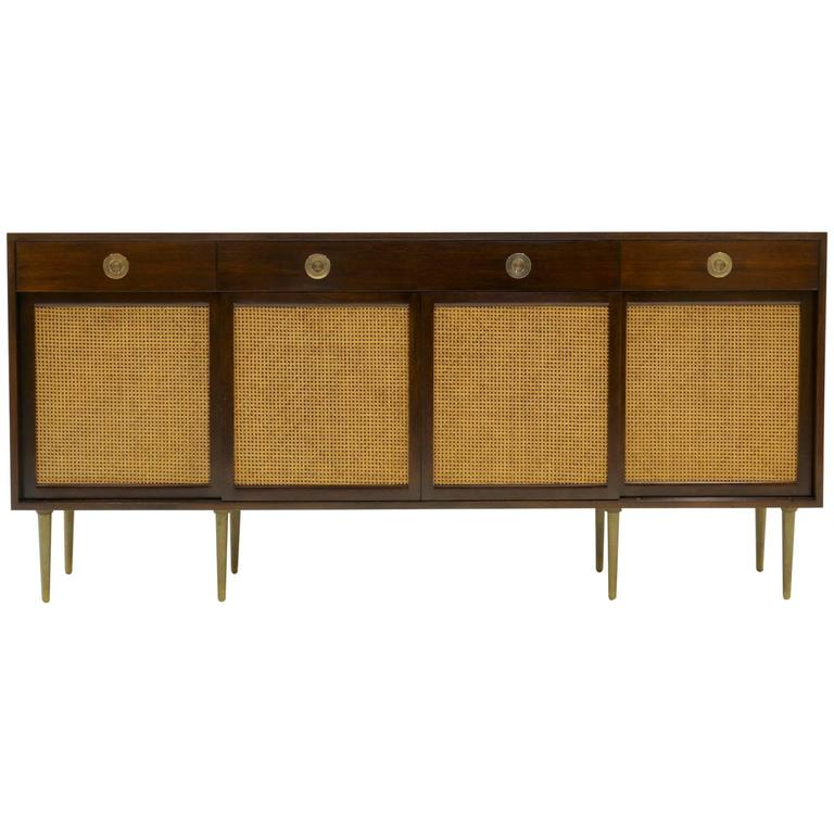 Cabinet or Buffet by Edward Wormley for Dunbar, Solid Brass Legs