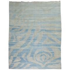 Turkish Kilim Flat-Weave Wool Rug