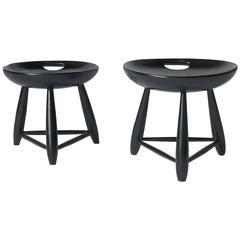"Pair of ""Mocho"" Stools by Sergio Rodrigues"