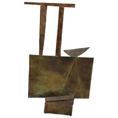 Bronze Brutalist Sculpture