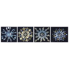 Four-Panel Sculptural Optical Art