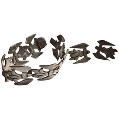 Taxco Silver Earring and Bracelet Set