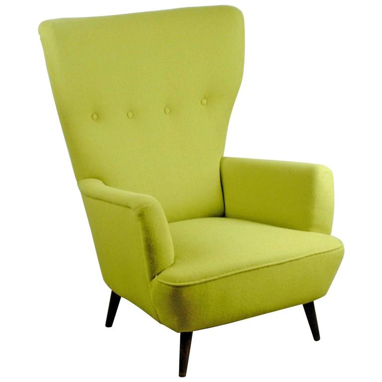 Austrian Modernist Wingback Armchair 1