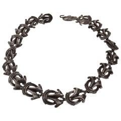 Mexican Silver Necklace by Margot De Taxco