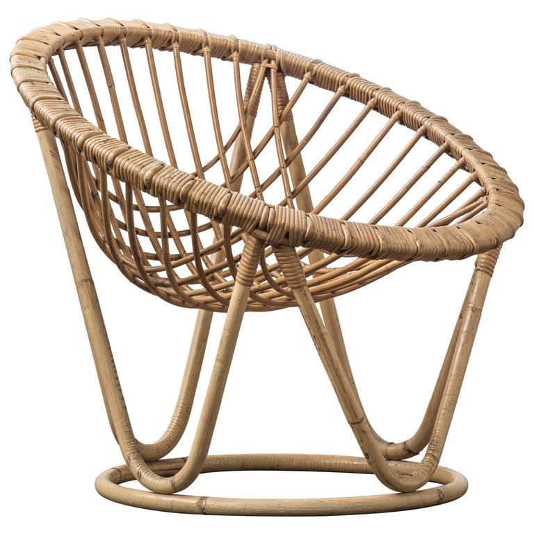 Bamboo and Rattan Wicker Work Chair 1