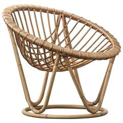 Bamboo and Rattan Wicker Work Chair