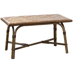 Bamboo Ceramic Table by Adrien Audoux and Frida Minet