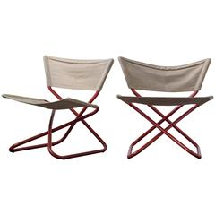 Pair of Folding Z-Down Lounge Chairs by Erik Magnussen