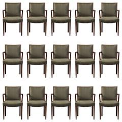 Set of 15 Dining Chairs by Lysberg, Hansen & Therp