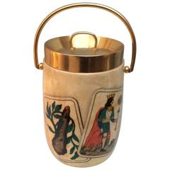Italian Mid-20th Century Parchment Ice Pocket or Wine Cooler by Tura
