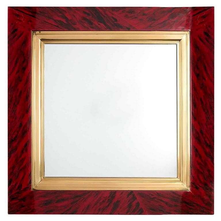 Faux Tortoise Shell Mirror