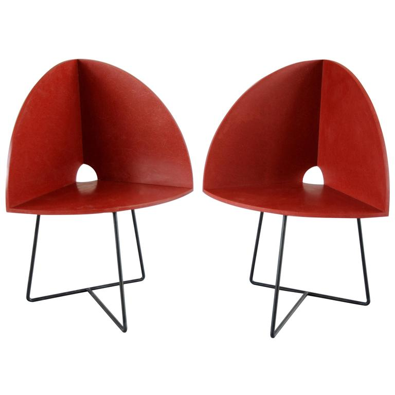 Pair Of Modern Bucket Child Chairs Prototypes By Chen Chen U0026 Kai Williams