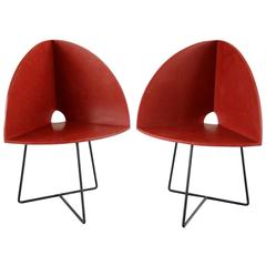 Pair of Modern Bucket Child Chairs Prototypes by Chen Chen & Kai Williams