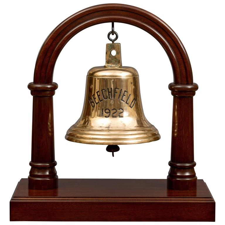 Antique Ships Bell From S S Beechfield At 1stdibs