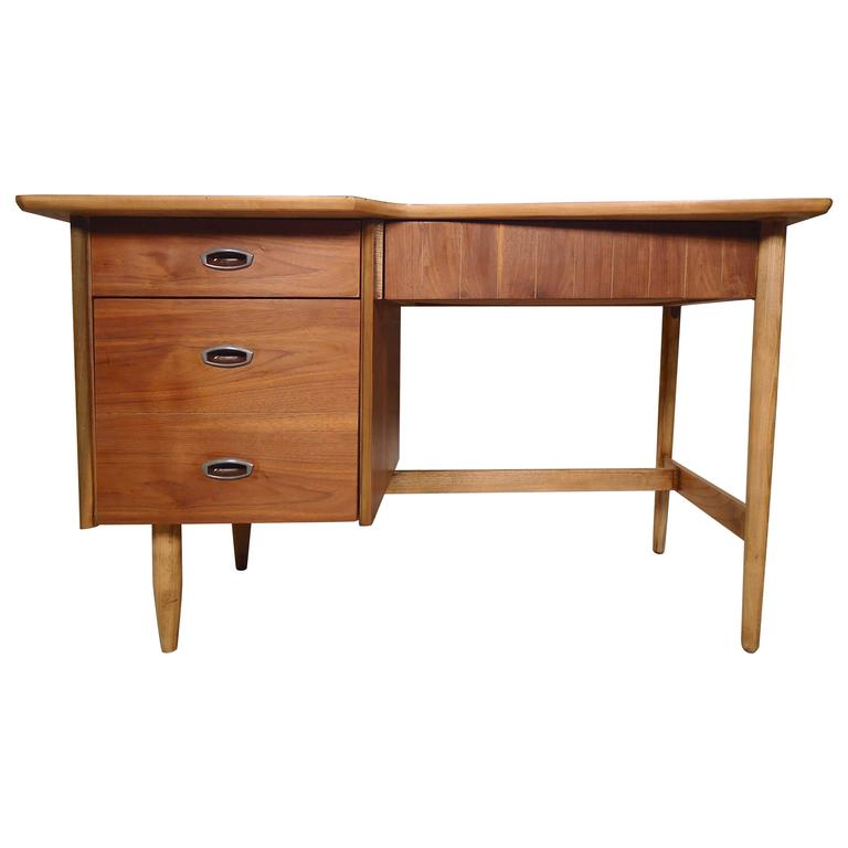 American Mid-Century Desk with Cut Out Top