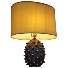 Mid-20th Century Handcrafted Italian Design Marcello Fantoni Ceramic Table Lamp