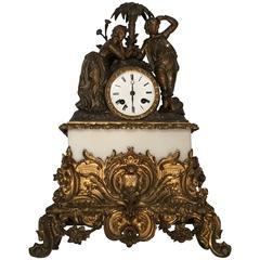 Antique Classical Figure Mantle Clock