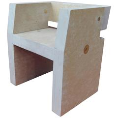 Box Child Chair Prototype by Chen Chen & Kai Williams in Homosote