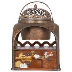 Japanese Lacquered Tabako-Bon Smoking Box Meiji Period