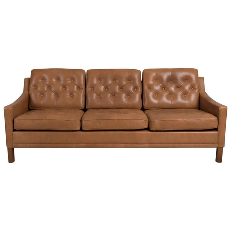 20th Century Leather Sofa By Ope Möbler For Sale