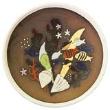 """""""Under the Sea,"""" Large, Rare Art Deco Bowl by Thomson for Upsala Ekeby"""