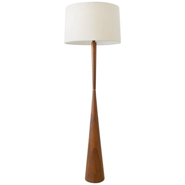 Tall sculptural walnut floor lamp at 1stdibs tall sculptural walnut floor lamp for sale aloadofball Images