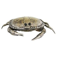 Franco Lapini, Silver Plated Crab Form Cavier Dish