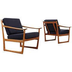 Pair of Easy Chairs by Peter Hvidt & Orla Mølgaard Nielsen for France and Sø