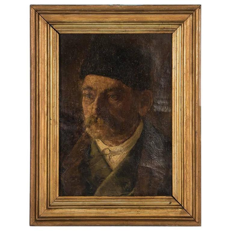 Antique 19th Century German Oil Painting Portrait of a Gentleman