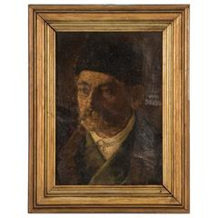 Antique 19th Century German Oil Painting Portrait of a Gentleman