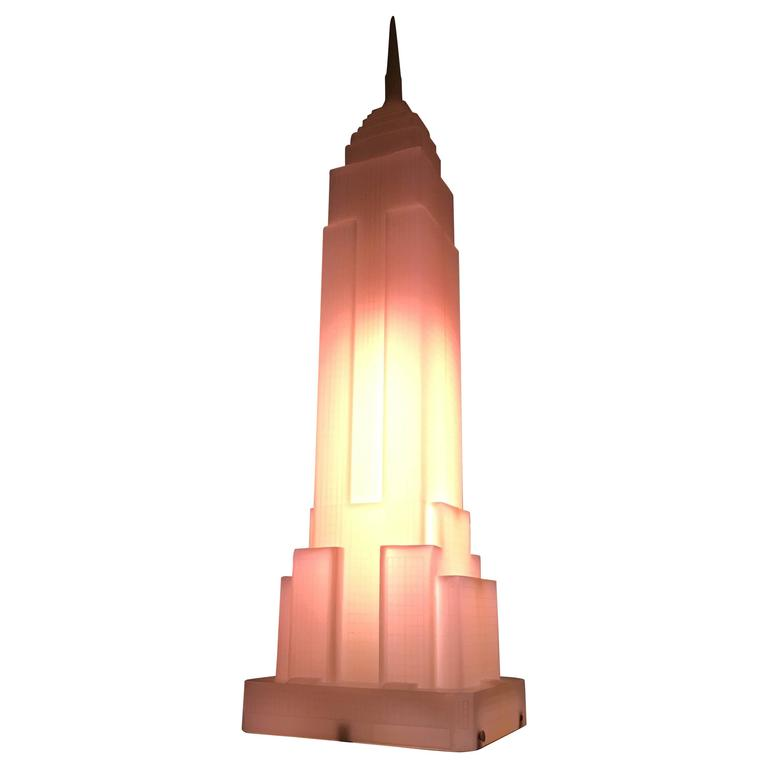 Empire State Building Sculptural Lamp by Midori at 1stdibs
